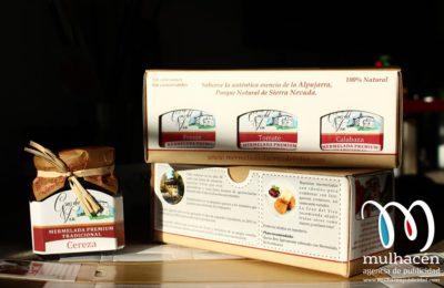 diseño de packaging o caja para mermeladas la cruz del viso
