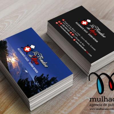 diseño e impresion de tarjetas de visita para restaurante la fondue de noa sierra nevada granada