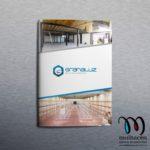 diseño dossier comercial para empresa de granada de granada de estanterias metalicas granaluz