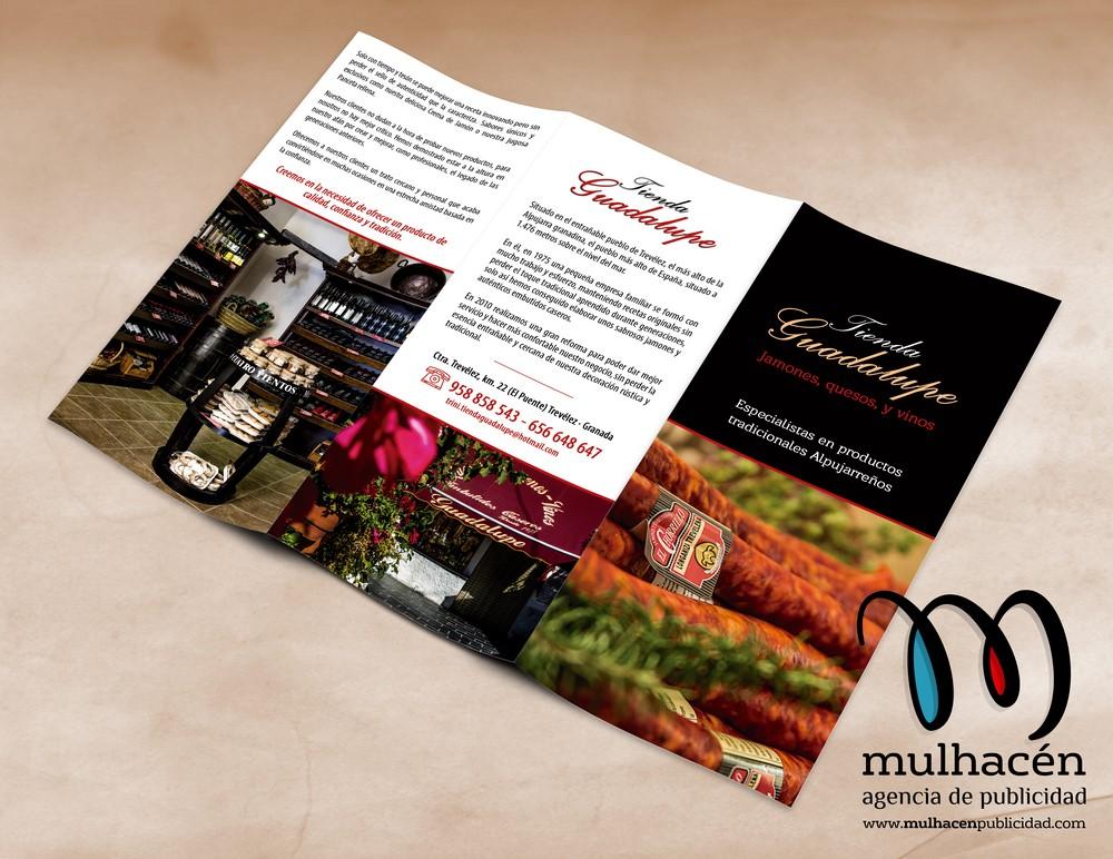 Tienda guadalupe - diseño de triptico promocional interior (Copiar)