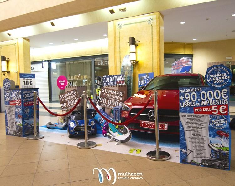 diseño y rotulacion de stand con multitud de displays en malaga